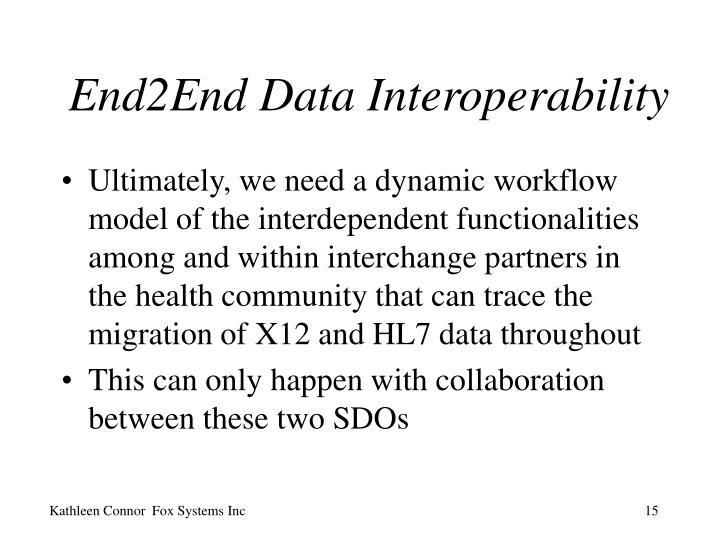 End2End Data Interoperability