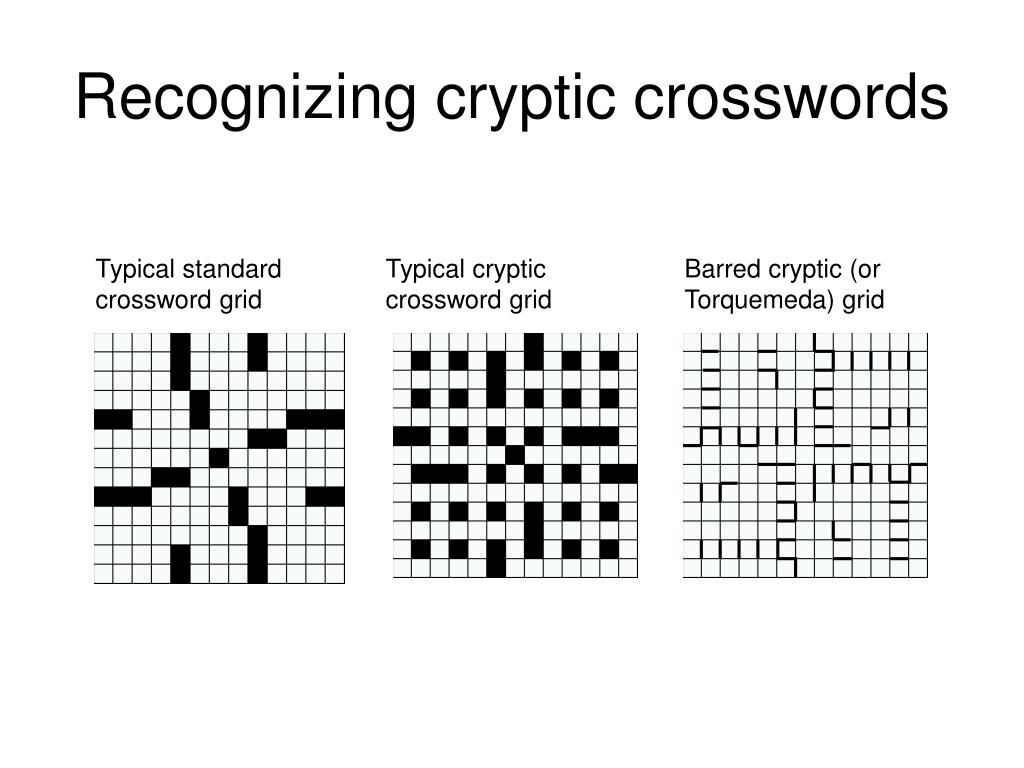 Recognizing cryptic crosswords