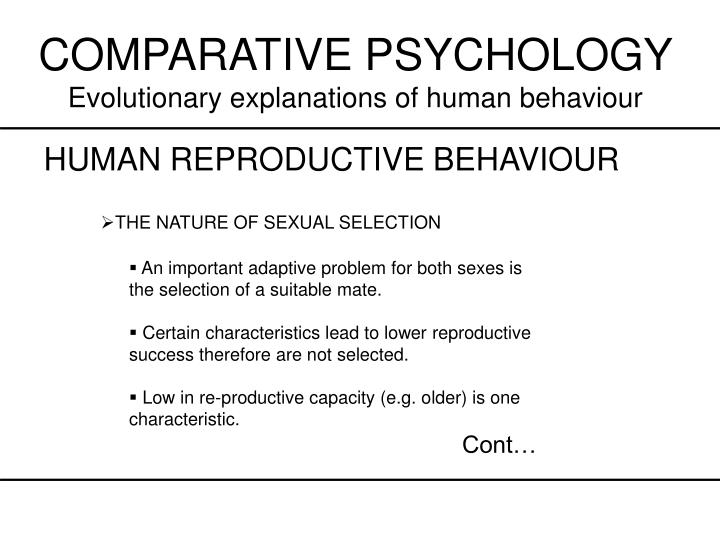 Relationship between sexual selection and human reproductive behaviour essay
