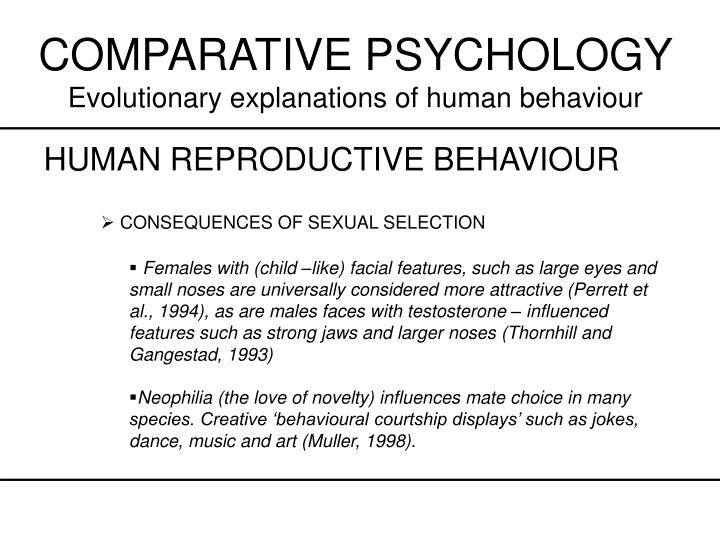 COMPARATIVE PSYCHOLOGY