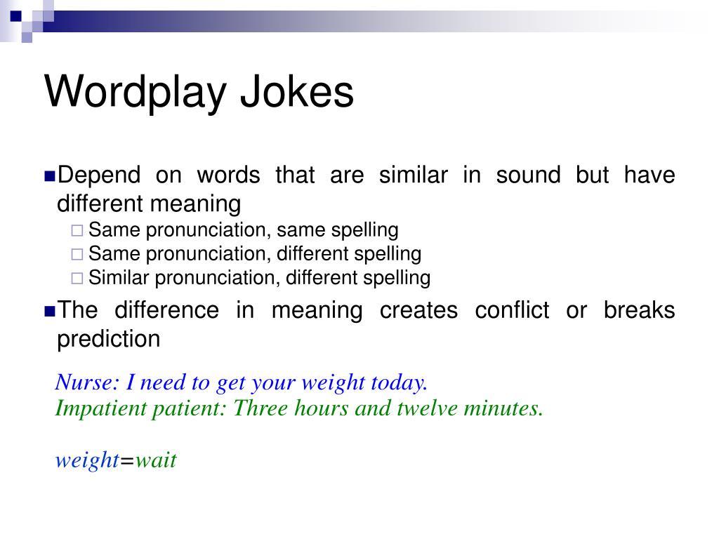 Wordplay Jokes