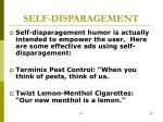 self disparagement