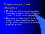 consequences of low vocabulary