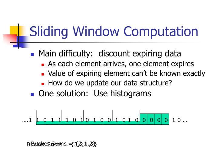 Sliding Window Computation