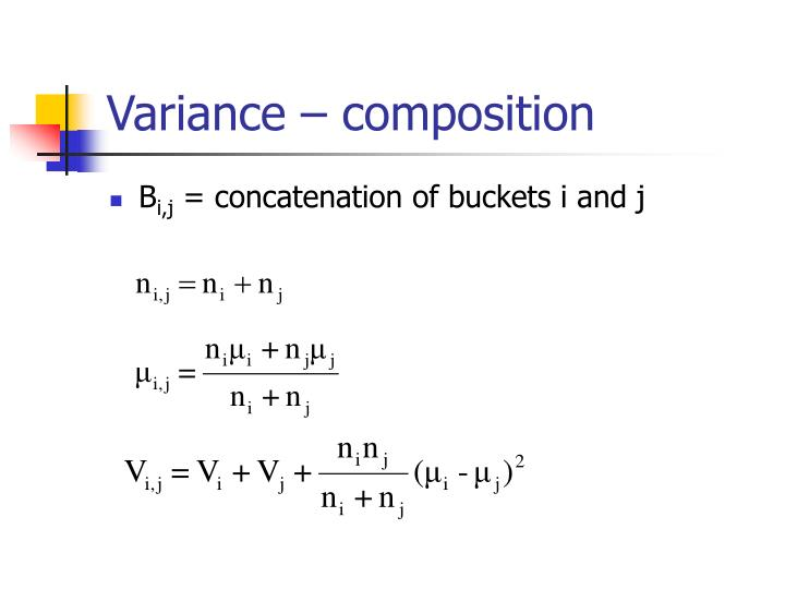 Variance – composition