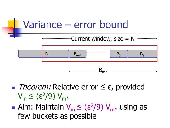 Variance – error bound