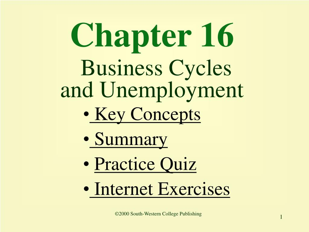 chapter 16 business cycles and unemployment l.