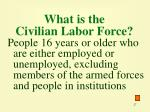 what is the civilian labor force