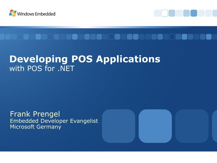 developing pos applications with pos for net n.
