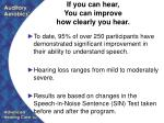 if you can hear you can improve how clearly you hear