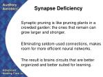 synapse deficiency