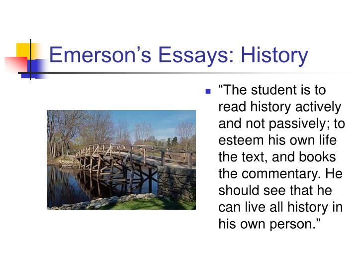 Emerson's Essays: History