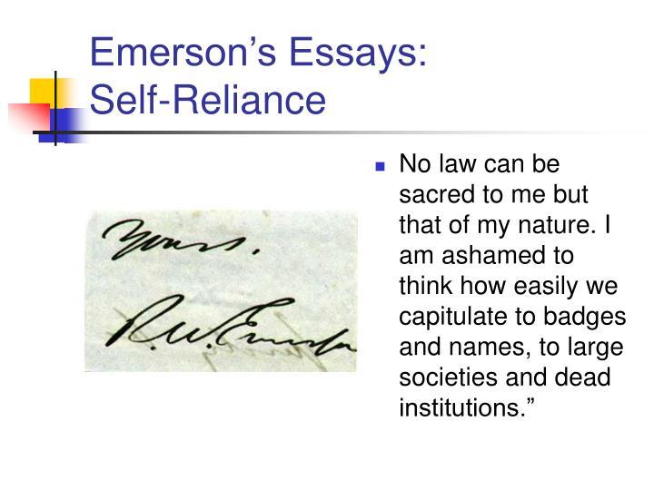 Emerson's Essays: