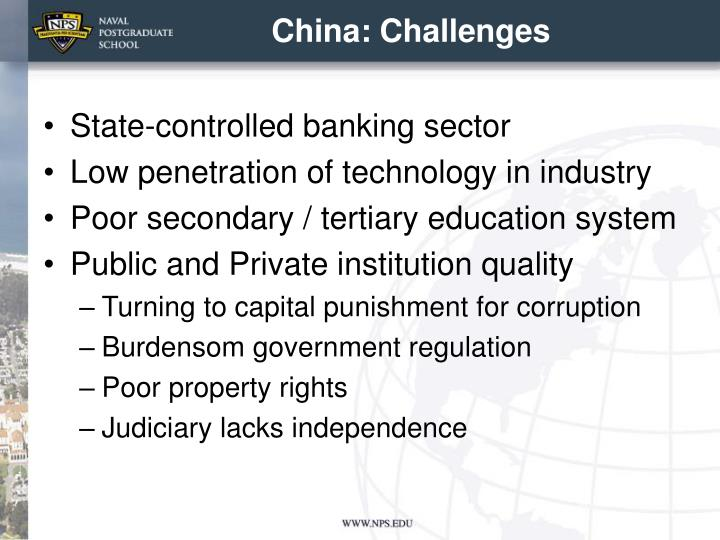 China: Challenges