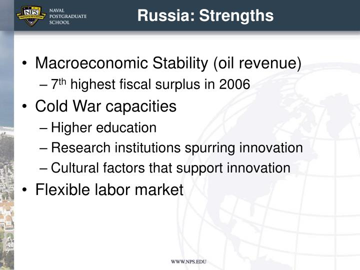 Russia: Strengths