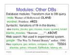 modules other dbs