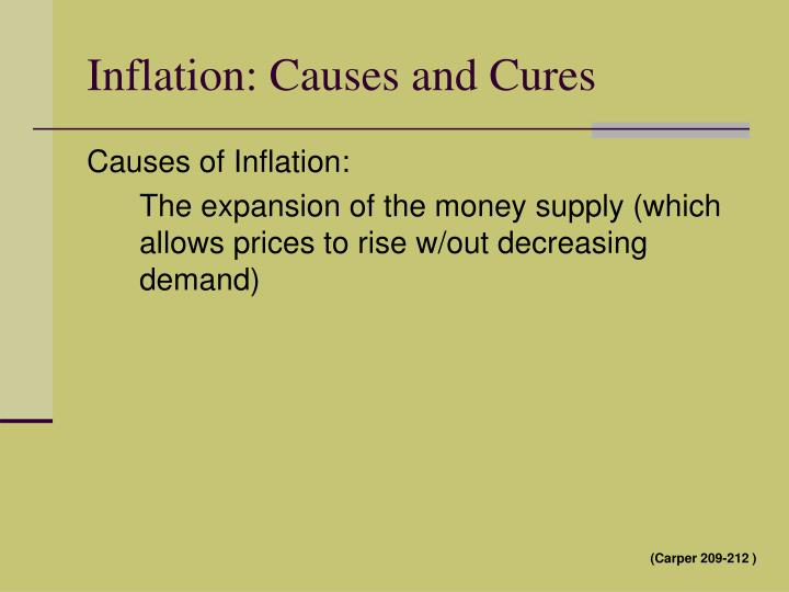 Inflation: Causes and Cures