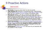 9 proactive actions back to chart