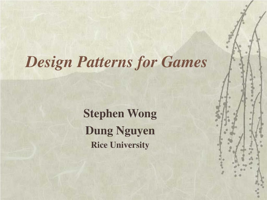 design patterns for games l.