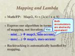 mapping and lambda