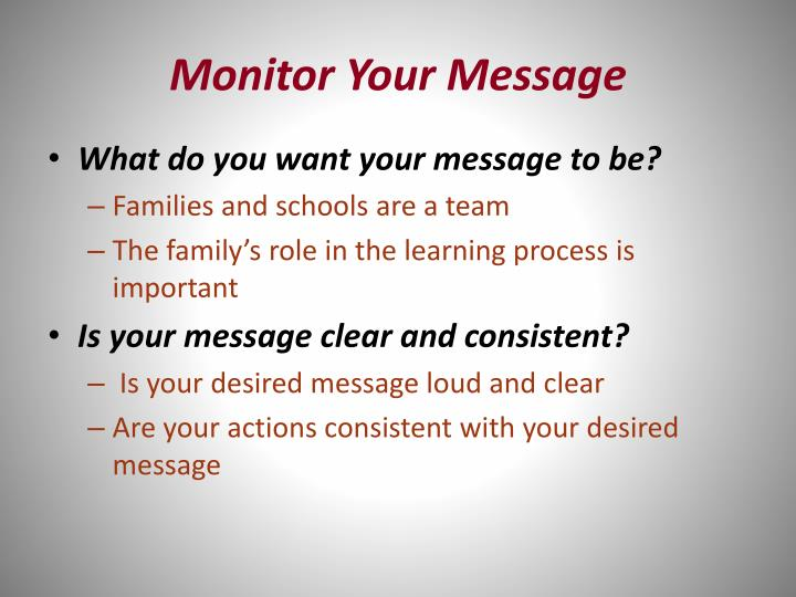 Monitor Your Message
