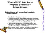what will pbs look like at progress elementary golden stamps