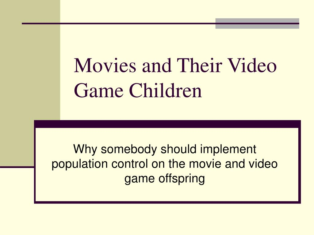 movies and their video game children l.