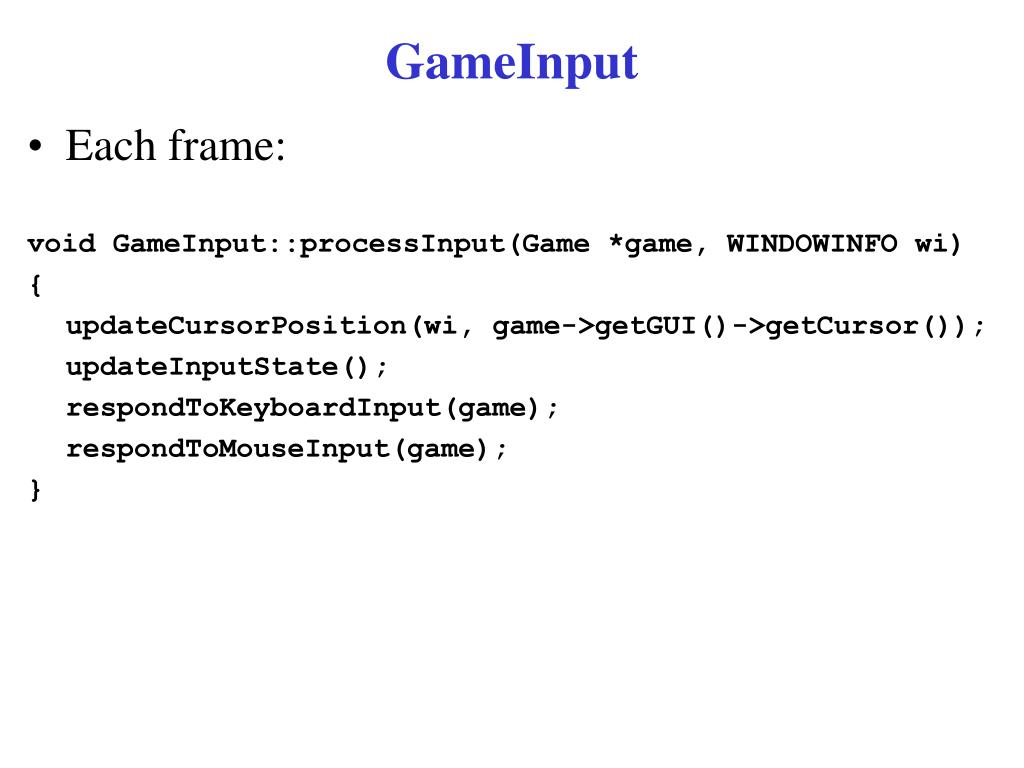 GameInput