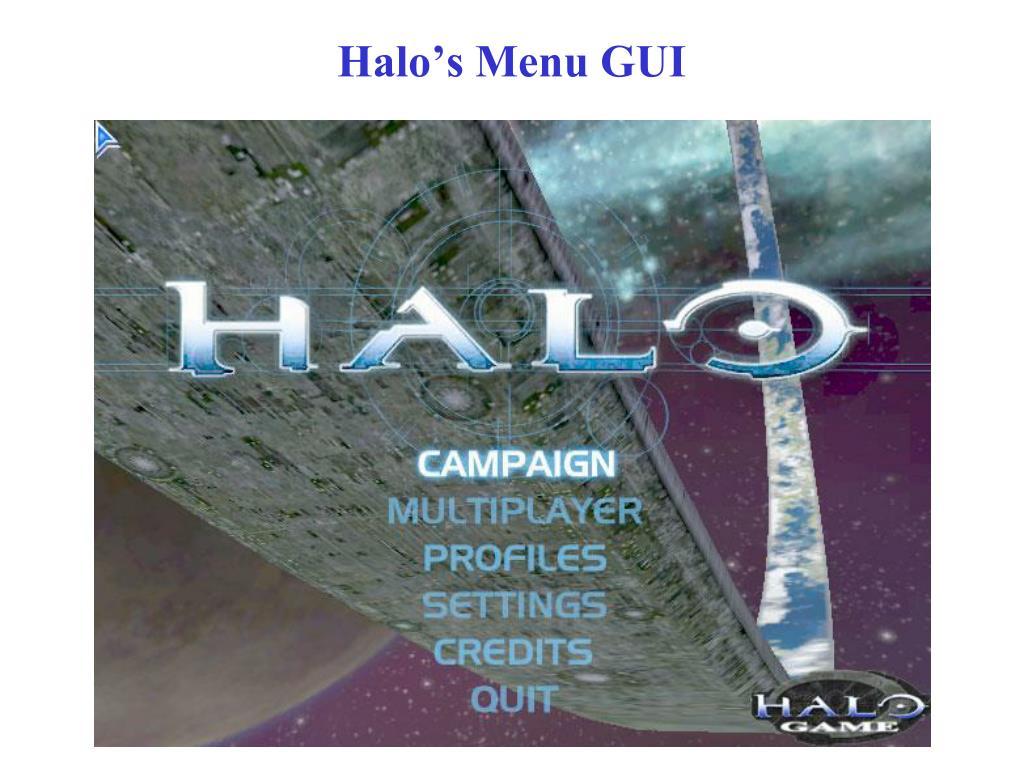 Halo's Menu GUI