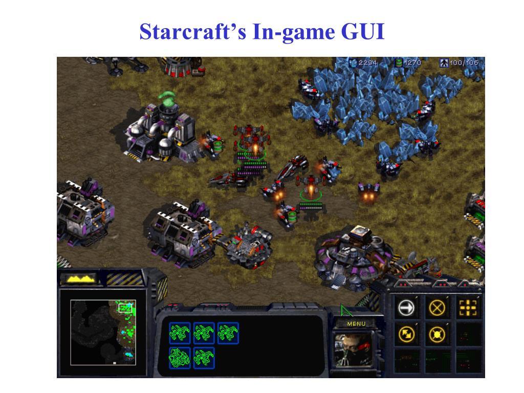 Starcraft's In-game GUI