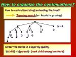 how to organize the continuations