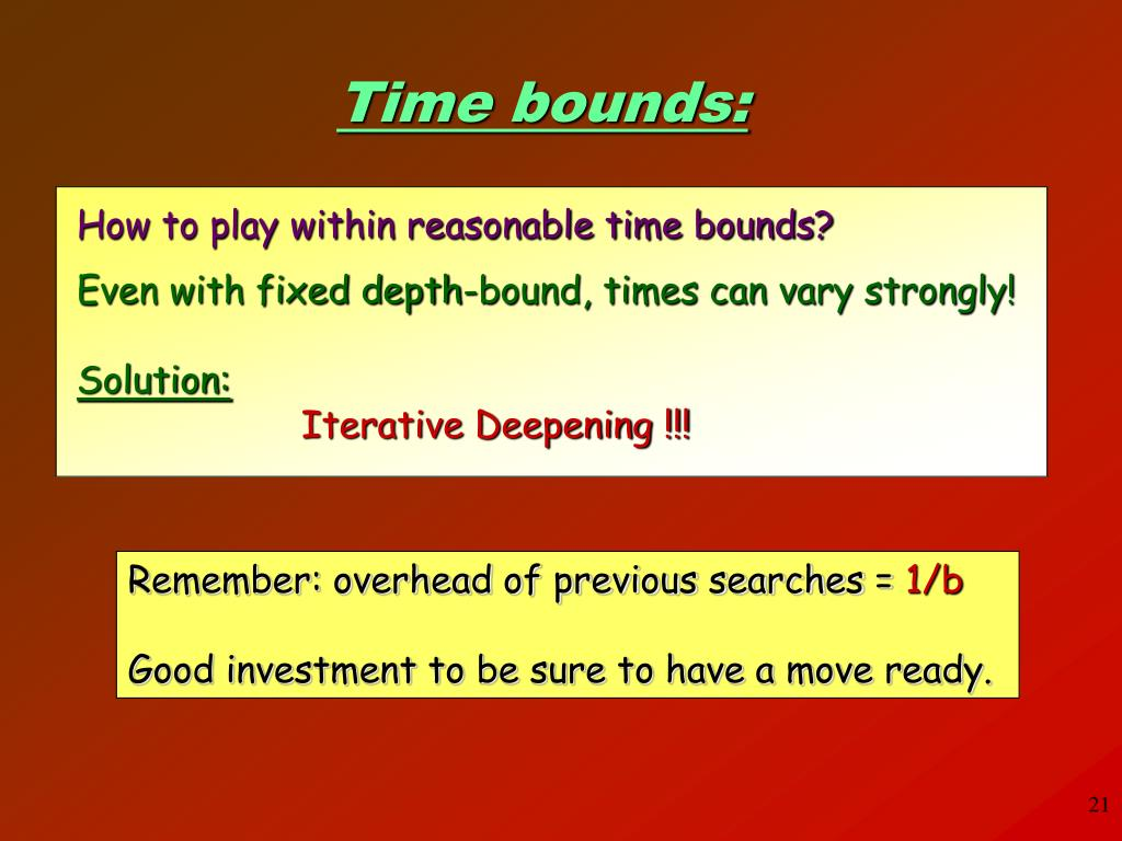 How to play within reasonable time bounds?