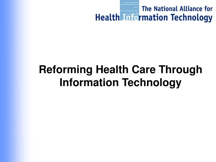 informatics health care and information Ieee transactions on information technology in biomedicine, vol 7, no 1, march 2003 1 health care informatics keng siau abstract— the health care industry is currently experiencing a.