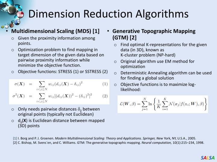 Dimension Reduction Algorithms