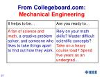 from collegeboard com mechanical engineering