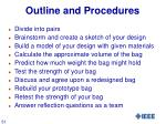 outline and procedures
