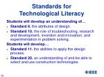 standards for technological literacy