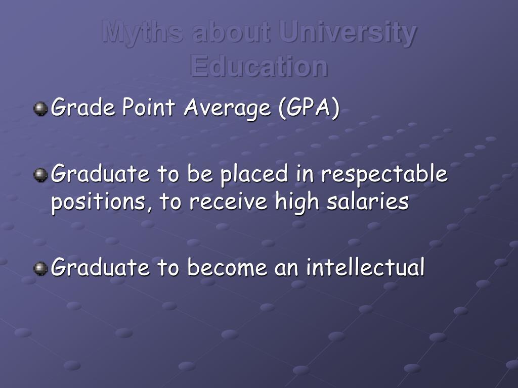 Myths about University Education