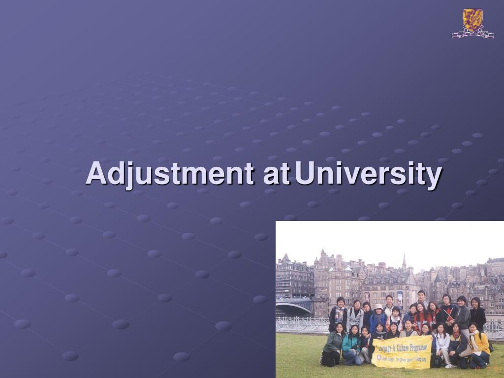 Adjustment at