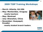2009 tisp training workshops