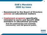 eab s mandate ieee by laws
