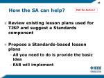 how the sa can help
