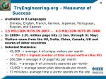 tryengineering org measures of success