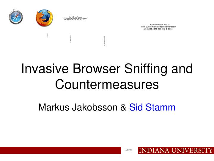 invasive browser sniffing and countermeasures