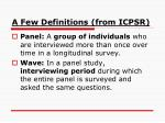 a few definitions from icpsr5