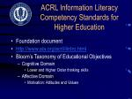 acrl information literacy competency standards for higher education