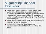 augmenting financial resources