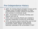 pre independence history