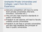unshackle private universities and colleges learn from the u s experience