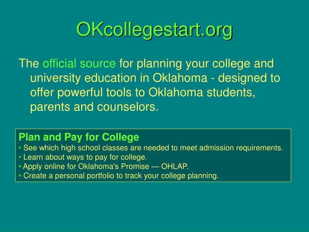OKcollegestart.org